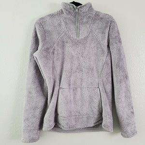 The North Face Gray Fuzzy Jacket Size Small